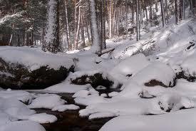 Río de hielo.