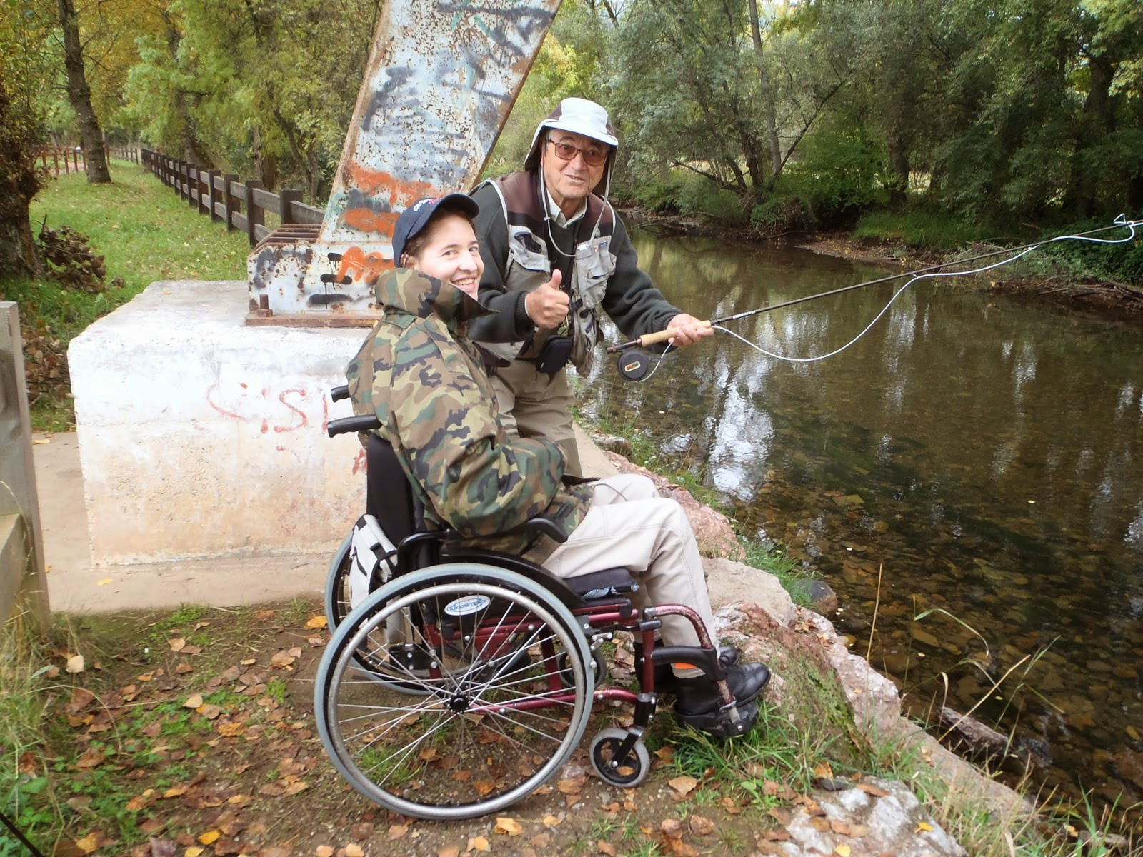 La pesca en pareja.