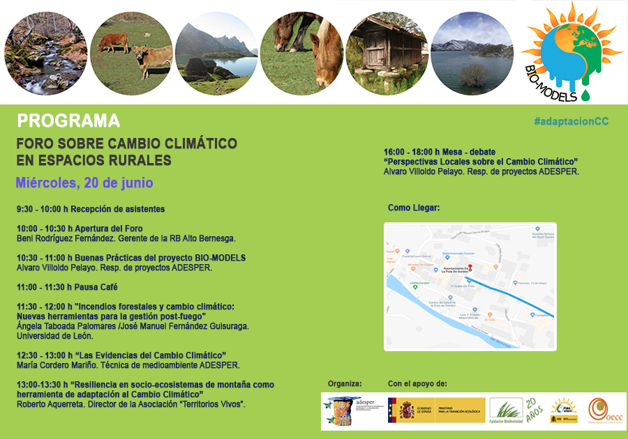 Foro sobre Cambio Climático en Espacios Rurales